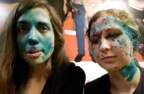 Pussy Riot's Nadezhda Tolokonnikova and Maria Alyokhina Attacked with Paint in Russia