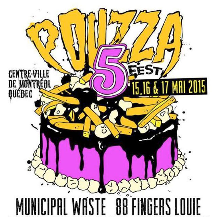 Pouzza Fest V Gets Municipal Waste, 88 Fingers Louie, Knapsack
