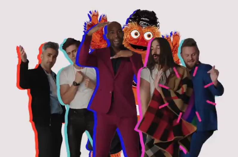 Philadelphia Flyers Mascot Gritty Gets a 'Queer Eye' Makeover