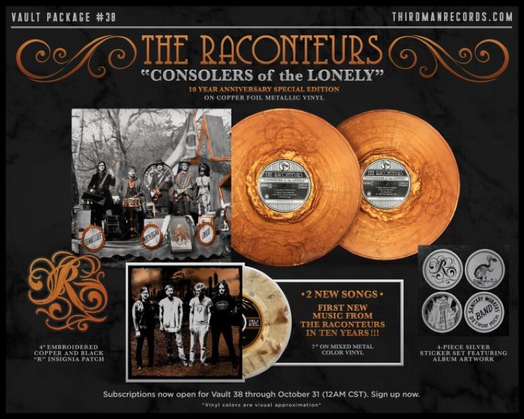 Jack White's the Raconteurs Prep Vinyl Reissue, Announce New Album Plans