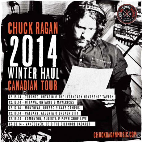 Chuck Ragan to Bring Tour to Canada in December