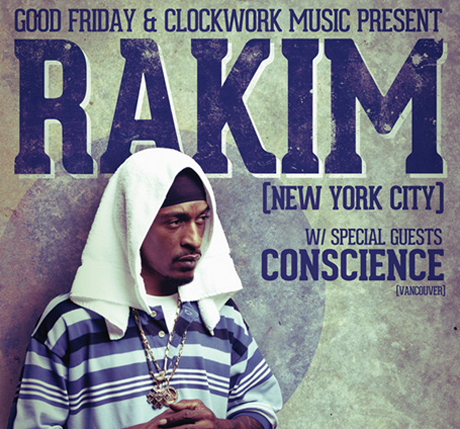 Rakim Gets Set for Canadian Tour