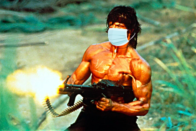 Sylvester Stallone Criticized for Suggesting Rambo Wouldn't Wear a COVID-19 Mask