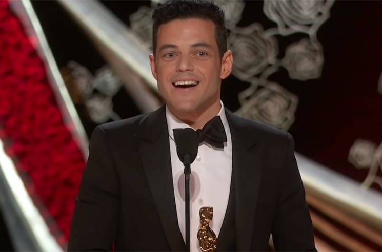 ​Rami Malek Fell Off the Stage After Accepting His Oscar for 'Bohemian Rhapsody'