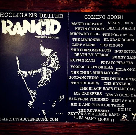 Rancid Toasted by Anti-Flag, Voodoo Glow Skulls, Street Dogs on New Tribute Comp