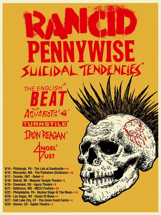 Rancid and Pennywise to Play Toronto on North American Tour