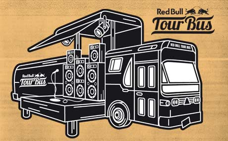 Red Bull Tour Bus Announces Tour Schedule with the New Pornographers, Tokyo Police Club, the Sheepdogs