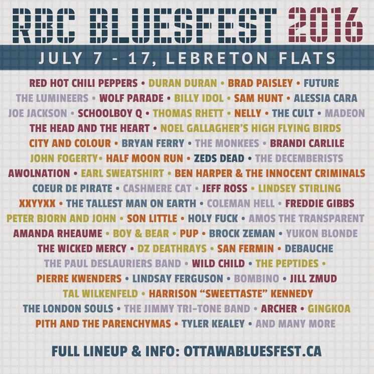 Ottawa's RBC Bluesfest Reveals Initial 2016 Lineup