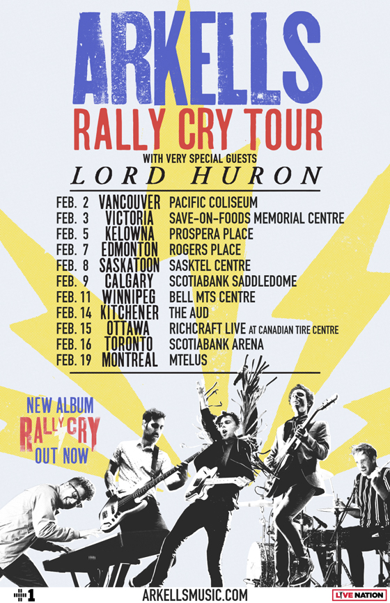"Arkells Map Out ""Rally Cry Tour"" with Lord Huron"
