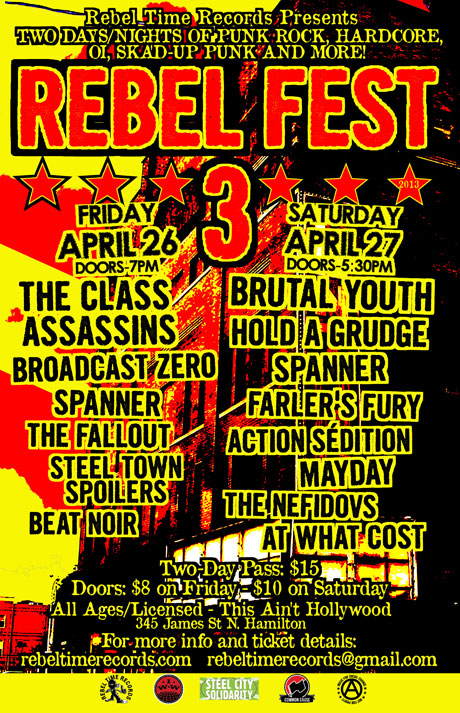 Rebel Fest III Brings Out the Class Assassins, Brutal Youth, Spanner