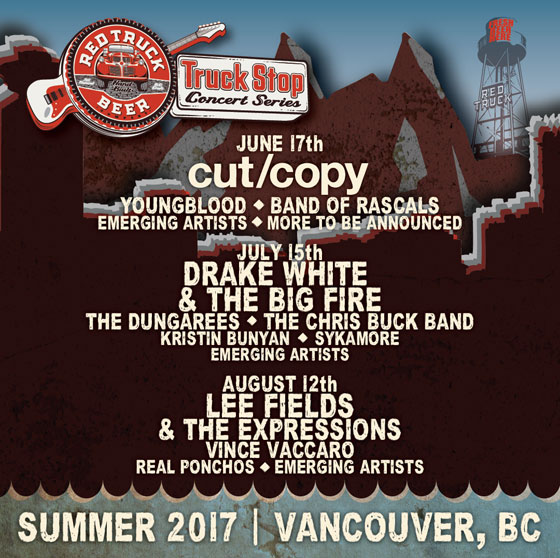 Cut Copy, Lee Fields Hit Vancouver for Red Truck's Summer Concert Series