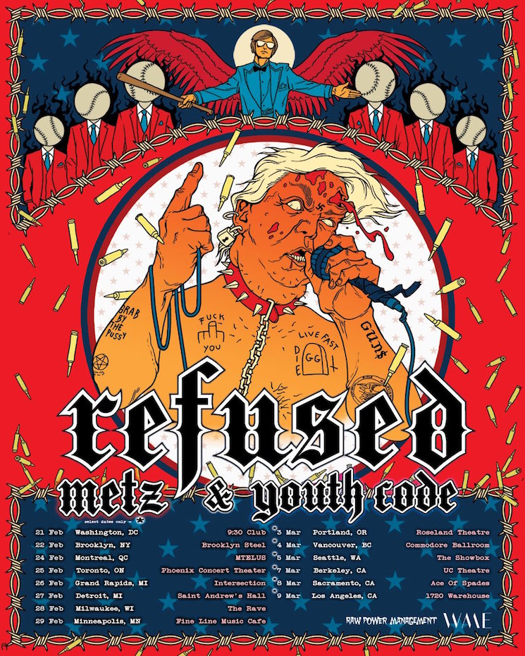 Refused Are Touring North America with METZ and Youth Code