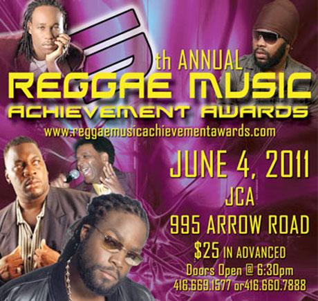 Reggae Music Achievement Awards Announce Fifth Instalment