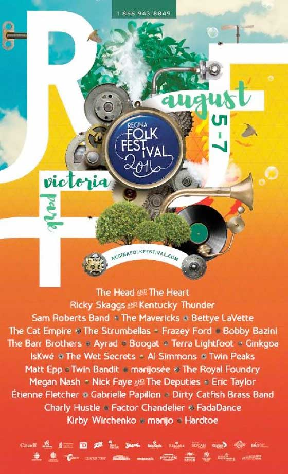 Regina Folk Festival Expands 2016 Lineup