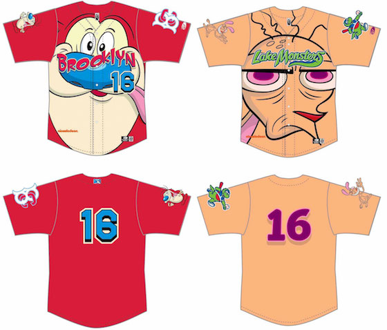 Brooklyn Cyclones and Vermont Lake Monsters Celebrate 'Ren & Stimpy' with Hideous Jerseys