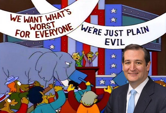 Ted Cruz Says All of the Simpsons Are Republicans Except Lisa