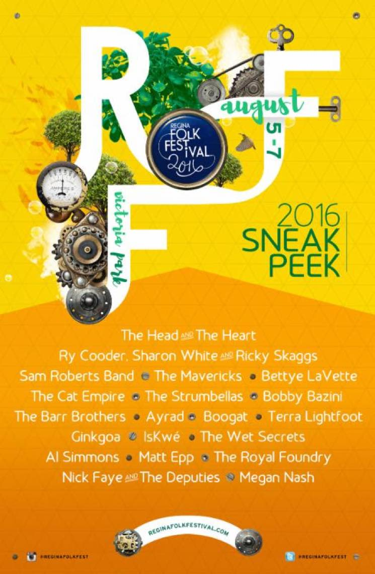 Regina Folk Festival Announces 2016 Lineup