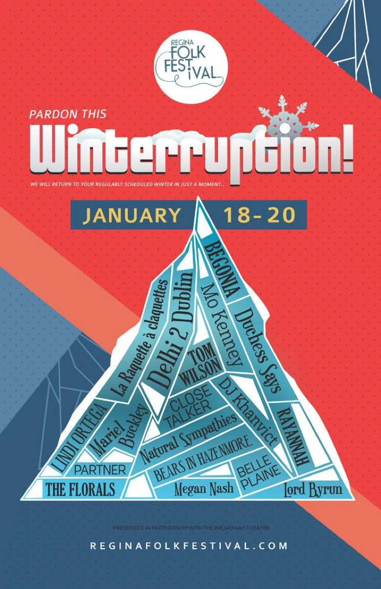 ​Regina Folk Festival Reveals Winterruption 2018 Lineup with Begonia, Partner, Lindi Ortega
