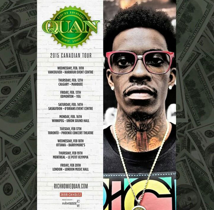 Rich Homie Quan Announces Canadian Tour, Shares New Track