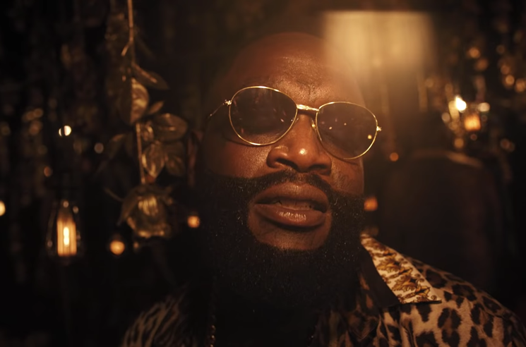 Rick Ross Lives Lavish in His 'Gold Roses' Video