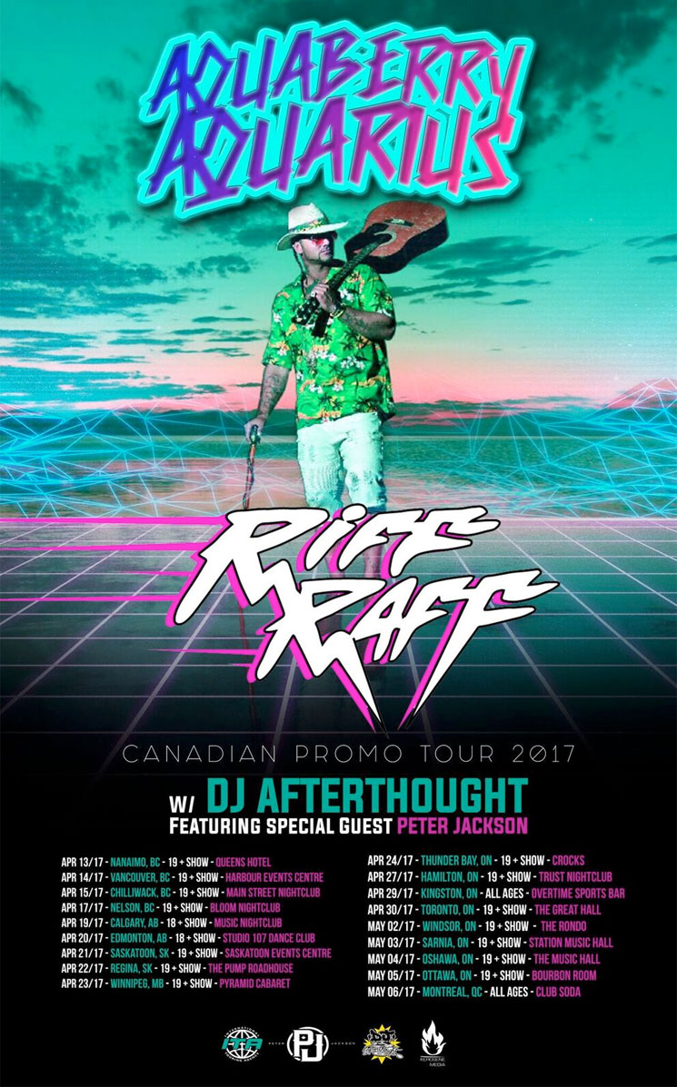 "Riff Raff Announces ""Aquaberry Aquarius"" Canadian Tour"