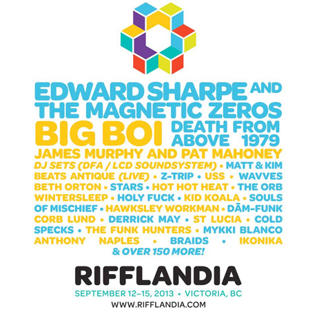 Victoria's Rifflandia Brings Out Edward Sharpe and the Magnetic Zeros, Big Boi, Death From Above 1979, James Murphy