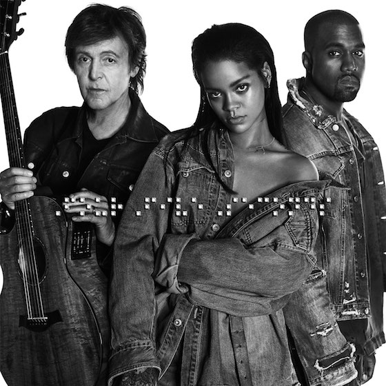 Rihanna 'FourFiveSeconds' (ft. Kanye West and Paul McCartney)