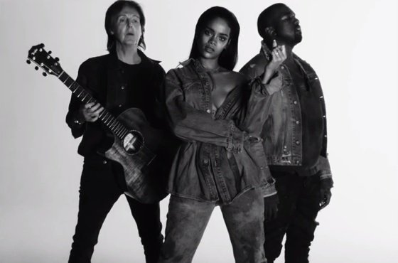 "Rihanna ""FourFiveSeconds"" (video) (ft. Kanye West & Paul McCartney)"
