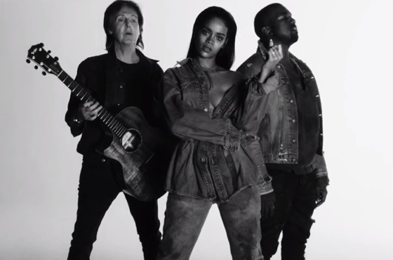 Rihanna 'FourFiveSeconds' (video) (ft. Kanye West & Paul McCartney)