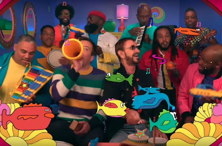 "​Watch Ringo Starr, the Roots and Jimmy Fallon Perform ""Yellow Submarine"" on Toy Instruments"