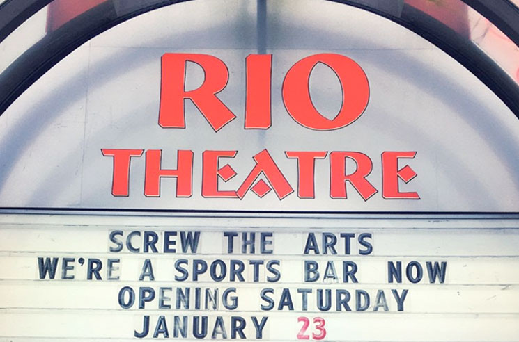 Vancouver's Rio Theatre Is Becoming a Sports Bar