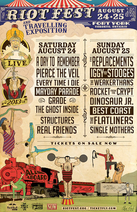 Riot Fest Toronto Brings Out the Replacements, Iggy & the Stooges, Rocket from the Crypt, the Weakerthans