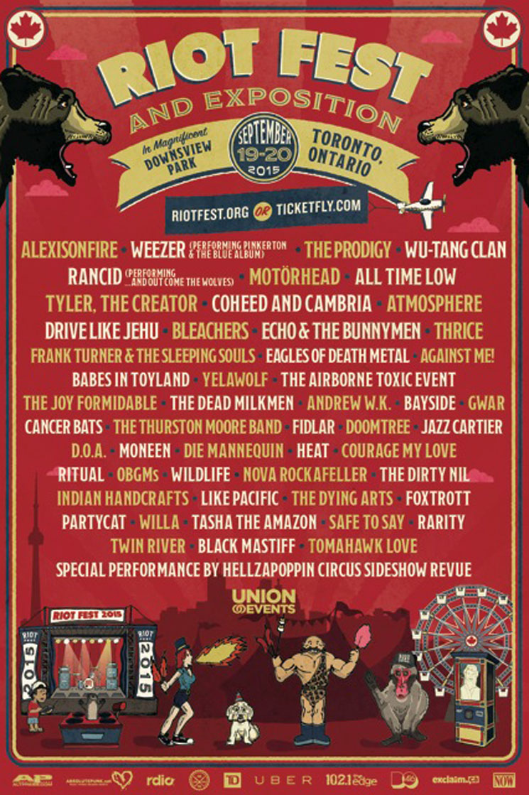 Toronto's Riot Fest Adds Weezer, the Prodigy, Cancer Bats