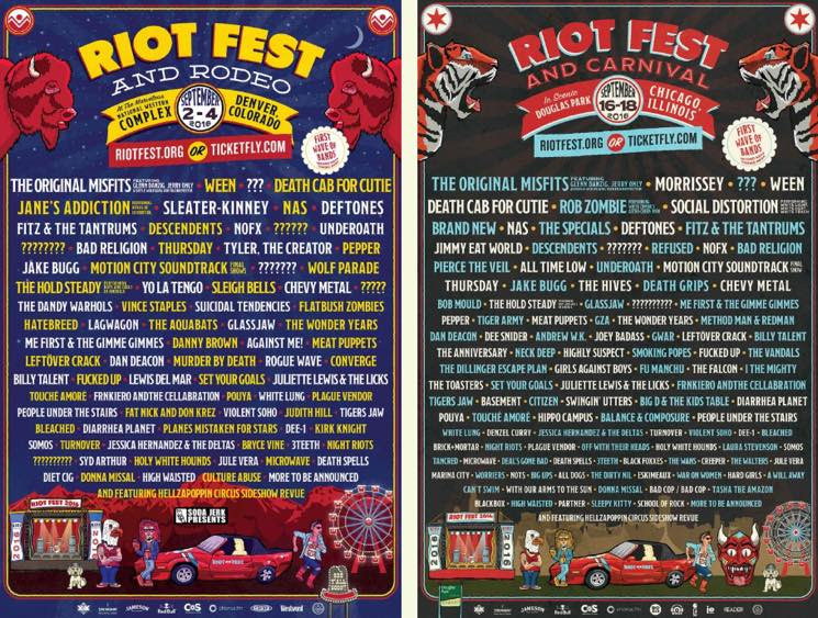 Riot Fest Unveils 2016 Lineups for Chicago and Denver