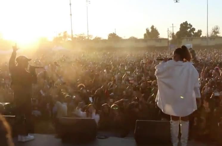 """Watch Kendrick Lamar Bring Out Rihanna for '""""LOYALTY."""" at TDE Christmas Show"""