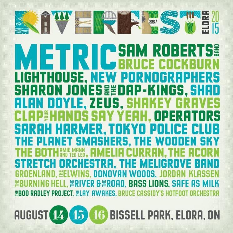 Riverfest Elora Details Full 2015 Lineup