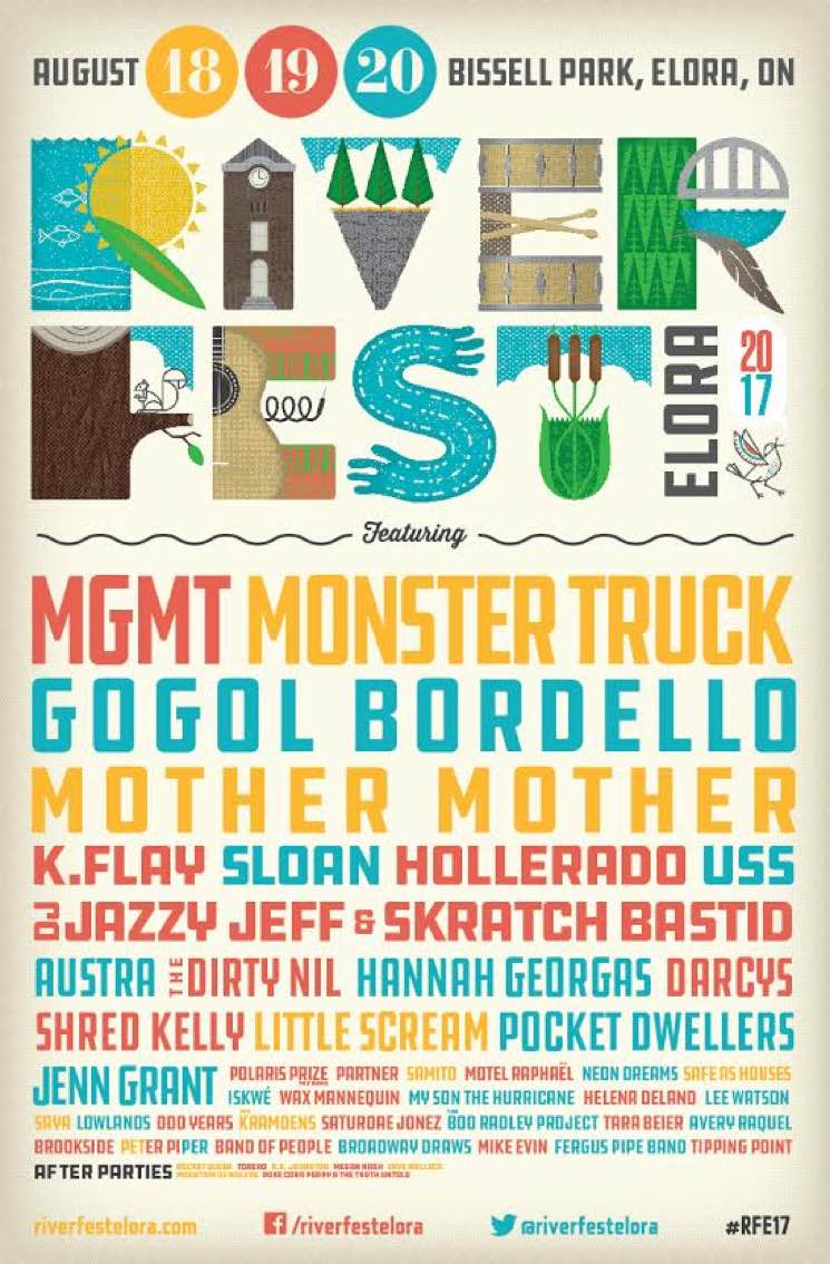 ​Riverfest Elora Reveals 2017 Lineup with MGMT, Gogol Bordello, Sloan