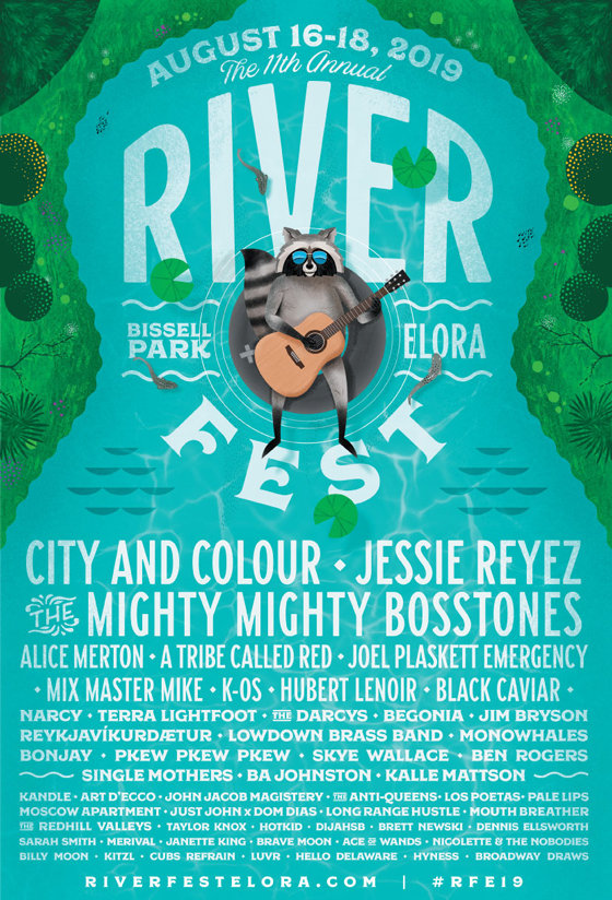 Riverfest Elora Reveals 2019 Lineup with City and Colour, Jessie Reyez, the Mighty Mighty Bosstones
