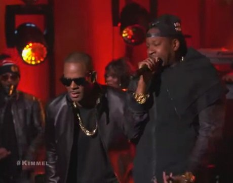 "R. Kelly ""Genius"" / ""My Story"" / ""You Deserve Better"" (live on 'Kimmel')"