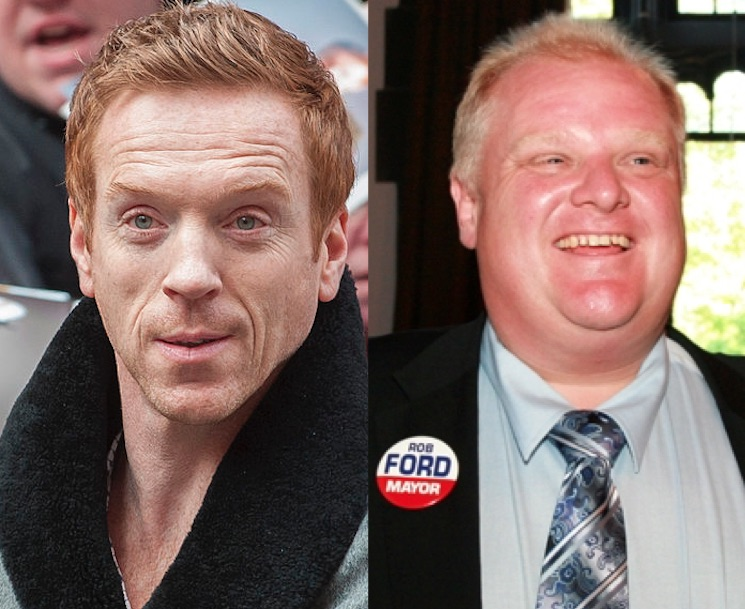 These Images of Damian Lewis Dressed Up as Rob Ford Will Haunt You