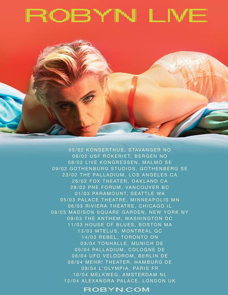 ​Robyn Announces First North American Tour Dates for 'Honey'
