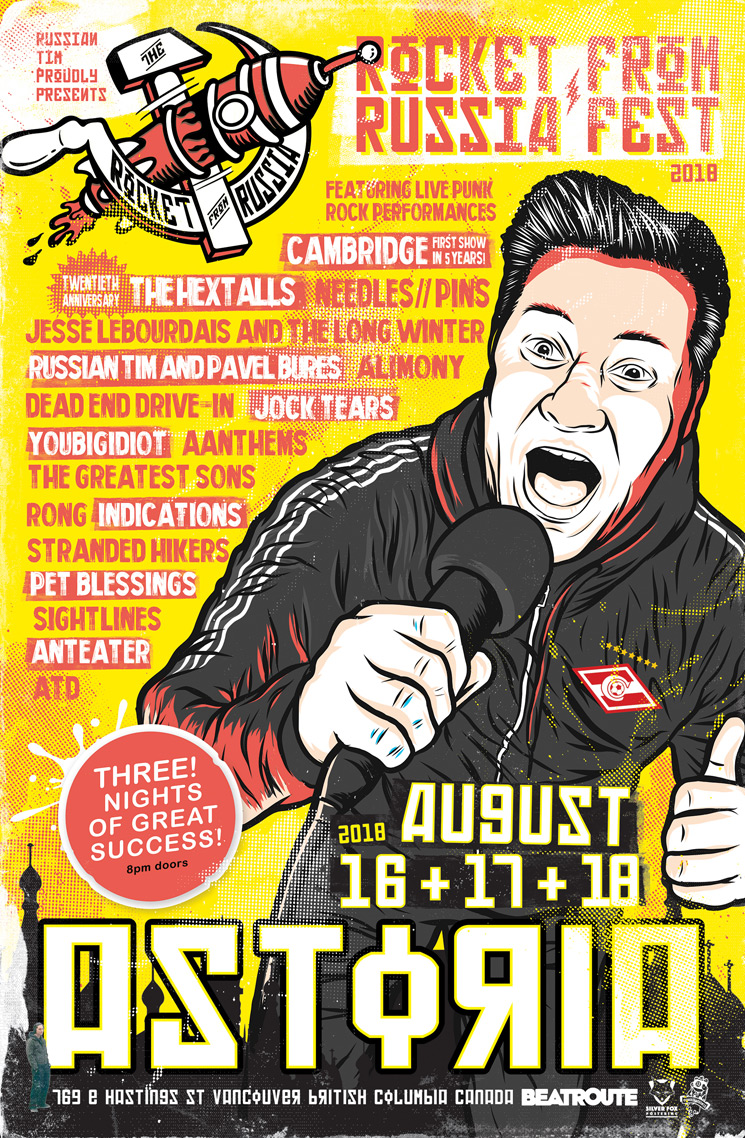 Vancouver's Rocket from Russia FEST 2018 Gets Needles//Pins, the Hextalls, Cambridge