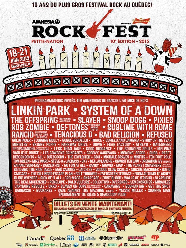 Amnesia Rockfest Unveils 2015 Lineup