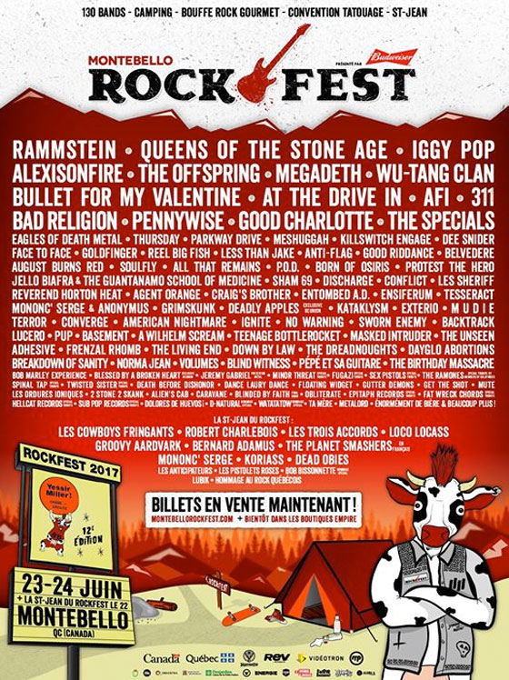 Montebello Rockfest Announces 2017 Lineup with Queens of the Stone Age, Iggy Pop, Wu-Tang Clan, At the Drive-In