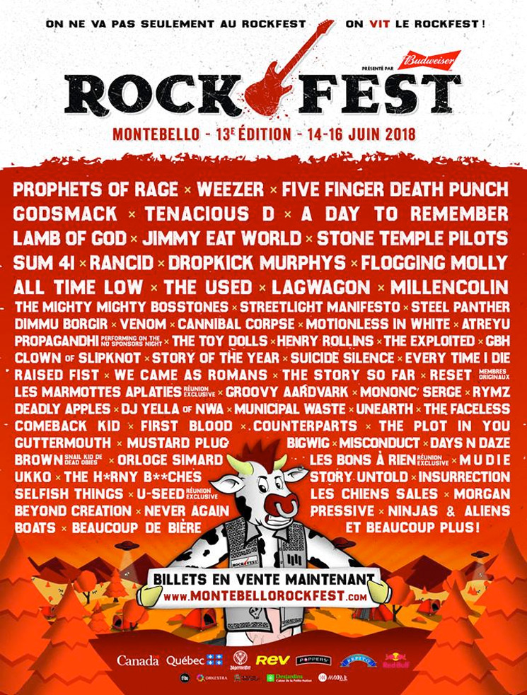 Montebello Rockfest Announces 2018 Lineup