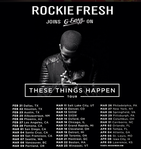 "Rockie Fresh Added to G-Eazy's ""These Things Happen"" Tour, Plays Vancouver, Toronto, Montreal"