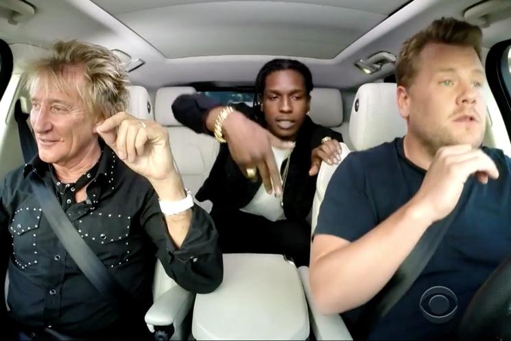 "A$AP Rocky & Rod Stewart ""Everyday"" (Carpool Karaoke with James Corden)"