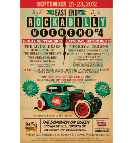 Toronto's East End Rockabilly Weekend #4 Nabs the Living Deads, Ronnie Hayward, the Royal Crowns, the Hellbound Hepcats