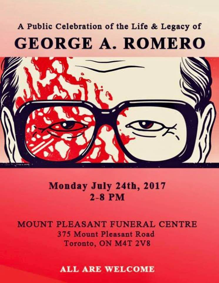 George A. Romero to Be Honoured with Public Memorial in Toronto