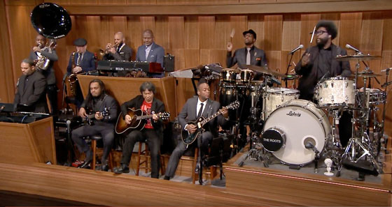 Watch Shigeru Miyamoto and the Roots Play the Super Mario Bros. Theme on 'Fallon'